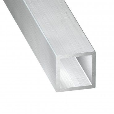 Tubo de Alumínio Bruto Quadrado 1m