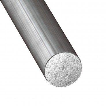Perfil de Aço Estriado Redondo Envernizado 1m