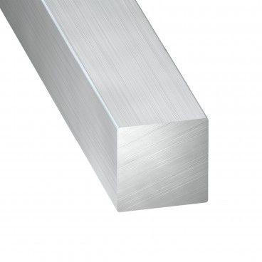 Perfil de Alumínio Bruto Quadrado 1m