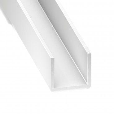 Perfil de PVC U 1m