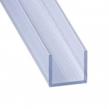 Perfil de PVC U Transparente 2m