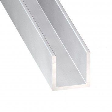 Perfil de Alumínio Anodizado em U 2.5m