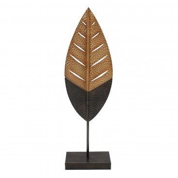 Folha Decorativa Preto/Dourado