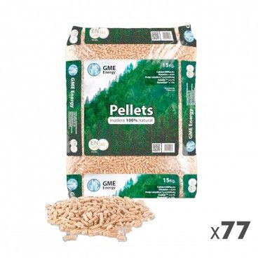 Pellets Certificados GME 6mm Palete 77 Sacos 15kg