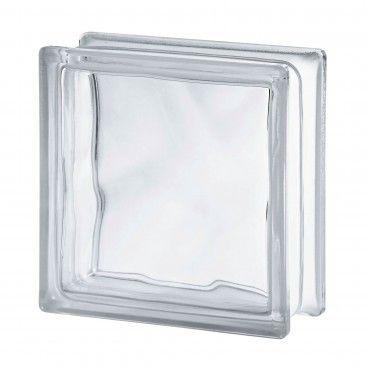 Bloco Vidro Ondulado Transparente