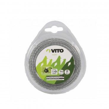 Fio Nylon Torcido Plus para Roçadora Vito Ø2.4mm x 15m