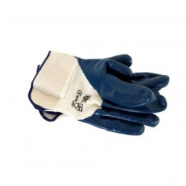 Luva de Nitrilo Azul com Punho Rígido