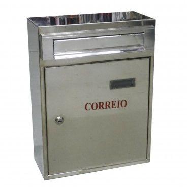 Caixa de Correio Inox com Porta à Frente