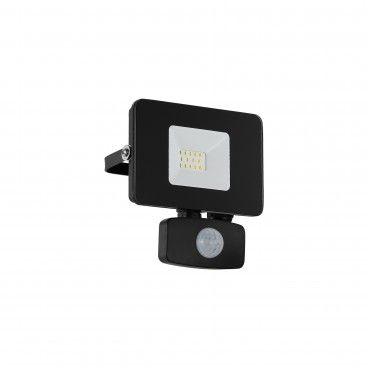 Projetor Exterior LED com Sensor Eglo Faedo 3 10W 5000K