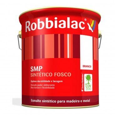 Esmalte Sintético para Madeira e Metais Fosco SMP Robbialac
