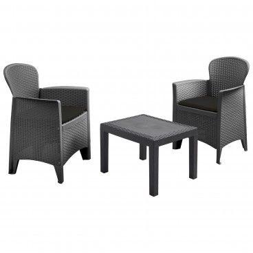 Set de Jardim Mesa com 2 Cadeiras