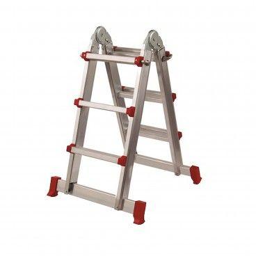 Escada Multiposições Alumínio 4x3 Degraus