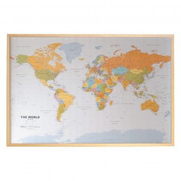 Quadro de Cortiça Mapa Mundo