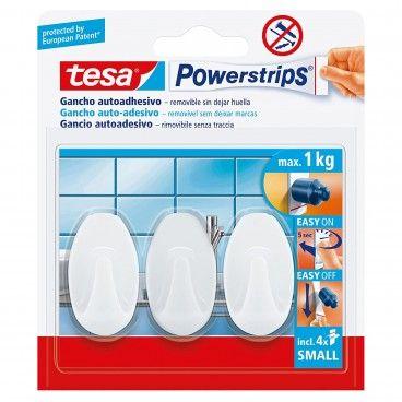Mini Gancho Adesivo Oval Tesa Powerstrips 3un