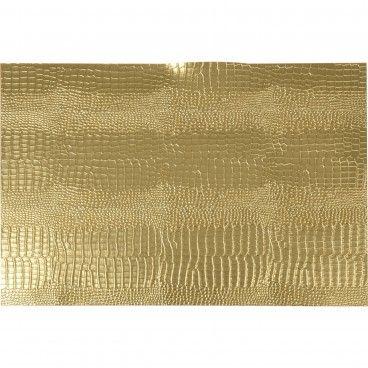 Individual Retangular Dourado